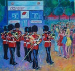 Irish Guards Bandsmen at Polo
