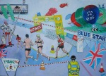 London Marathon 2008 painting