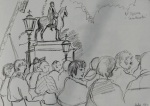 PENCIL SKETCH TRAFALGAR SQUARE