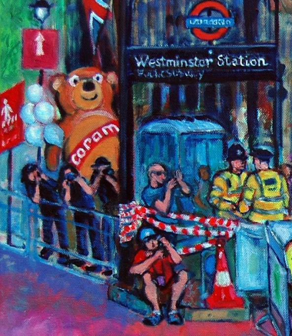 Detail, painting London Marathon