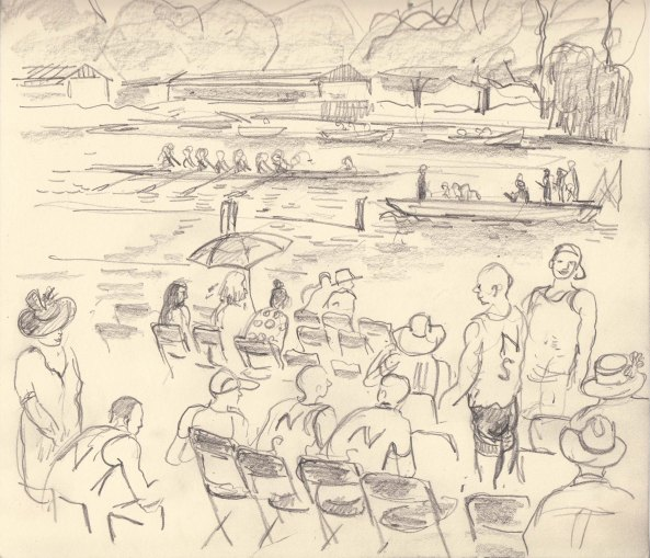 BOAT CREWS AUDIENCE, HENLEY REGATTA 1