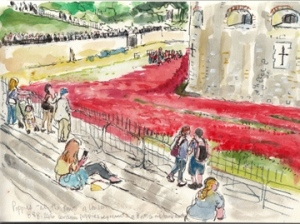 Poppies Tower of London sketch 2014 1